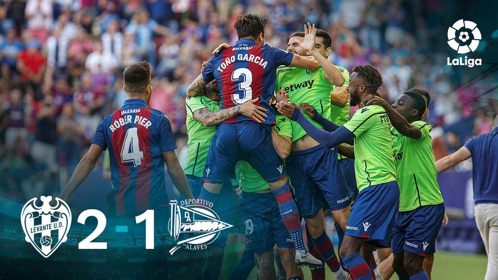 El Levante gana al Alavés. (EFE)