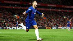 Eden Hazard celebra uno de los siete goles que ha firmado esta temporada. (Getty)
