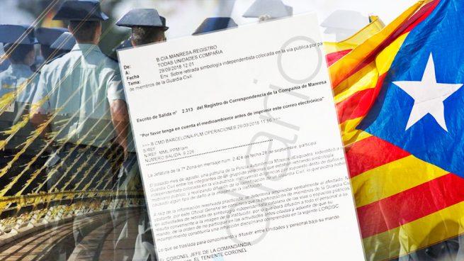 La Guardia Civil advierte a sus agentes de sanciones disciplinarias si retiran lazos amarillos