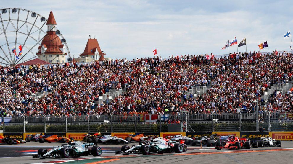 Salida del GP de Rusia 2018