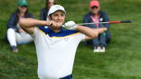 Jon Rahm celebra durante la Ryder Cup. (AFP)