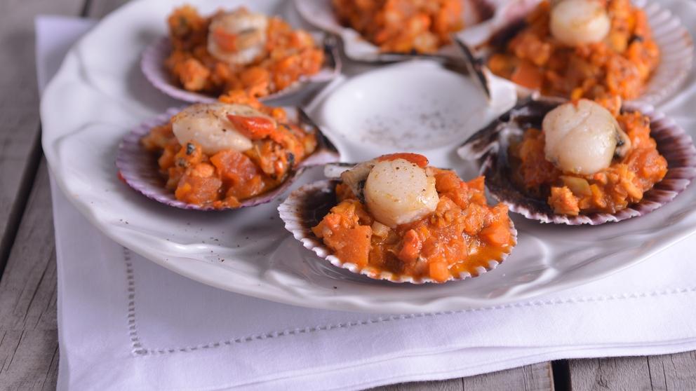 Receta de zamburiñas en salsa gallega