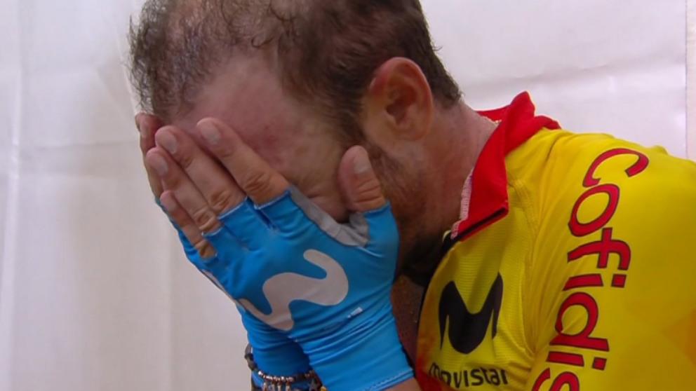 Valverde no pudo contener las lágrimas tras ganar el Mundial. (Twitter)