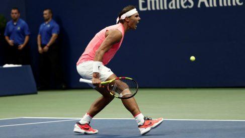 Rafael Nadal celebra un punto. (Getty)