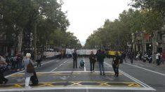Los CDR ocupando las calles céntricas de Barcelona