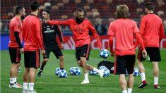 Benzema, durante un entrenamiento. (Realmadrid.com)
