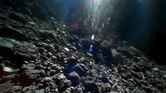 Foto de la JAXA en la superficie rocosa de los asteroides
