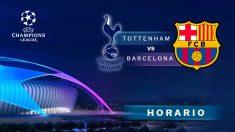 Champions League 2018: Tottenham – Barcelona | Horario del partido de fútbol de Champions League.