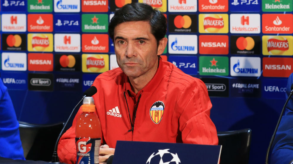Marcelino, durante una rueda de prensa. (AFP)