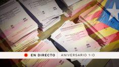 Aniversario 1-O: Sigue en directo la última hora de Cataluña.