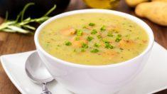 Receta de sopa de verduras con queso