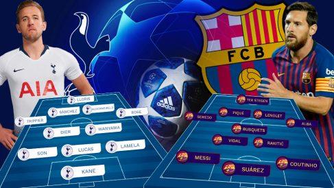Kane amenaza a un Barcelona deprimido. | Champions League: Tottenham – Barcelona