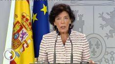 Isabel Celáa, portavoz del Gobierno.
