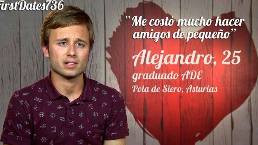 Alejandro ha sido muy sincero en 'First Dates'.
