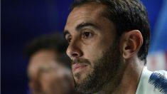Diego Godín analiza el partido de Champions ante el Brujas. (AFP)