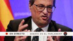 Sigue en directo el Pleno del Parlament de Cataluña tras los incidentes ocurridos durante el aniversario del 1-O.