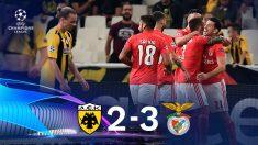 El Benfica gana al AEK. (AFP)