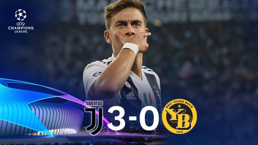 Resultado Juventus Young Boys Champions League Interior Resumen Goles Trei