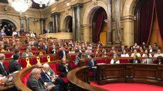 Sesión plenaria en el Parlament