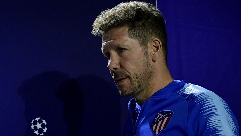 Diego Pablo Simeone analiza el choque contra el Brujas. (AFP)