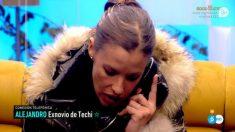 Techi ha hablado con Alejandro por teléfono en 'GH VIP 2018'. (Foto: Telecinco)