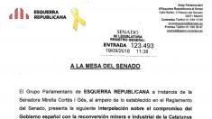 Carta con lazos amarillos