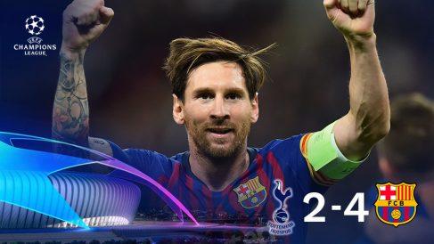 Leo Messi marcó dos goles en Wembley y salvó al Barcelona de su crisis.