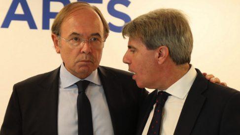 El líder del PP madrileño, Pío García-Escudero, y el presidente regional, Ángel Garrido. (Foto. PP)