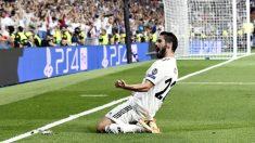 Isco celebra su gol a la Roma. (AFP)