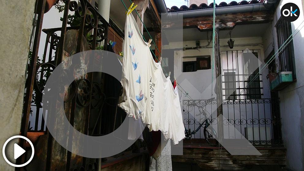 Inmueble «okupado» en Lavapiés por el director del Gabinete de Seguridad del Ayuntamiento de Madrid, Javier Fernández Cuba (Imagen: Francisco Toledo).