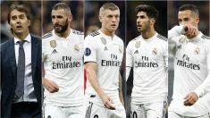 La derrota del Madrid en Moscú dejó cinco señalados.