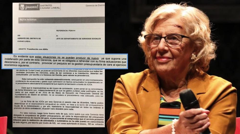 Manuela Carmena, este miércoles. (Foto. Madrid)