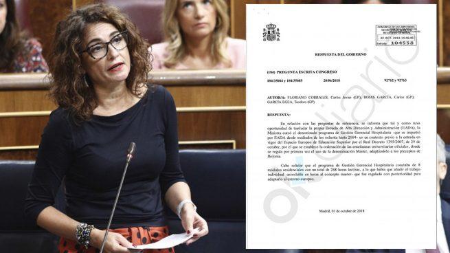La ministra de Hacienda, María Jesús Montero. (Foto: EFE/OKDIARIO)