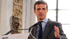 El presidente del PP Pablo Casado. (Vídeo: Atlas)
