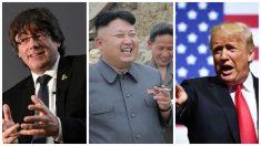 Carles Puigdemont, Kim Jong-un y Donald Trump.