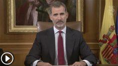 Discurso íntegro del Rey en respuesta al golpe en Cataluña.