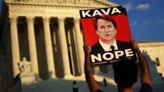 Protestas contra la designación del juez Brett Kavanaugh como candidato al Tribunal Supremo. (Foto: AFP)
