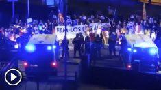 Escrache a las familias de Guardias Civiles en Calella