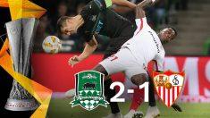 El Sevilla perdió ante el Krasnodar. (AFP)