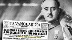Una portada de 'La Vanguardia' y el dictador Francisco Franco