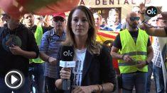 Policías y guardias civiles exigen la dimisión de Pedro Sánchez en Ferraz