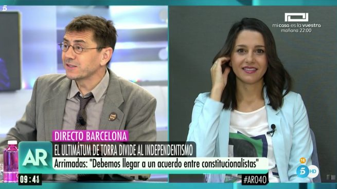 Juan Carlos Monedero e Inés Arrimadas