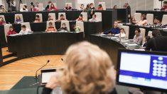 Manuela Carmena presidiendo un pleno infantil, otra iniciativa similar. (Foto. Madrid)