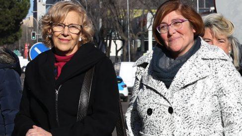 Manuela Carmena y Yolanda Rodríguez, presidenta de Hortaleza y Ciudad Lineal. (Foto. Madrid)
