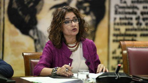 María Jesus Montero, ministra de Hacienda en el Senado. Foto EFE