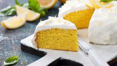Receta de Bizcocho de limón glaseado fácil de preparar