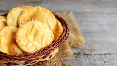 Receta de Galletas saladas de queso parmesano y aceitunas