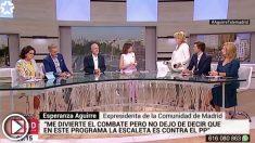 Esperanza Aguirrre se marcha de Telemadrid tras denunciar su sectarismo político