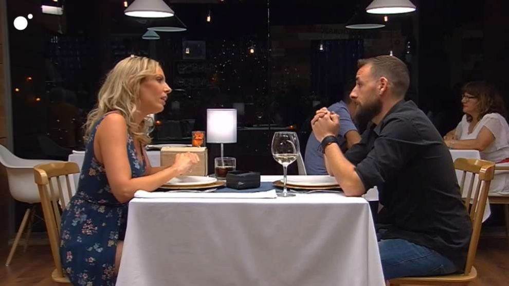 Cita entre Mamen y Miguel en 'First Dates'