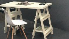 Los caballetes son perfectos para hacer un escritorio